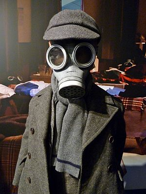 The Empty Child - The boy in the gas mask, as shown at the Doctor Who Experience.