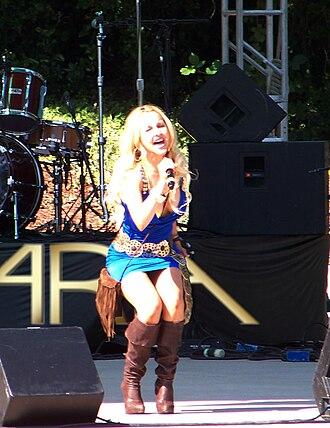 Aria Johnson - Aria Johnson opening for Ludacris in 2009
