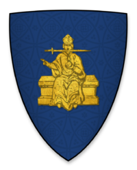 Arms displayed by Richard Poore, Bishop of Chichester, at the signing of Magna Charta.png