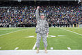 Army Gen. Martin E. Dempsey, chairman of the Joint Chiefs of Staff, leads U.S. Military Academy cadets in the rocket cheer on the sideline during the Air Force vs 141101-D-KC128-391.jpg
