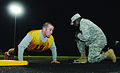 Army Spc. Michael Swan completes another correct pushup during the U.S. Army Best Warrior Competition, Army Physical Fitness Test event, at Williams Stadium on Fort Lee, Va., Oct. 15, 2012 121015-A-ZZ999-763.jpg