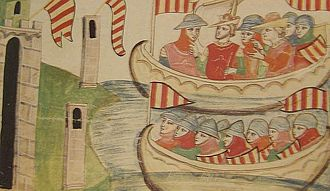 War of the Sicilian Vespers - Peter III of Aragon disembarks at Trapani.