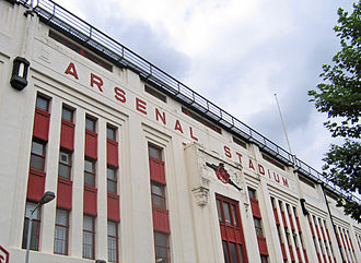 Football at the 1948 Summer Olympics - Image: Arsenal Stadium Highbury east facade