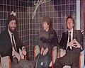 Arthur Antunes Coimbra negli studi di Telefriuli intervistato da Marco Caineri e Franco Terenzani.jpg