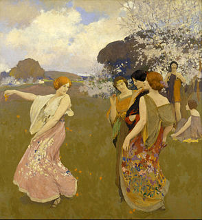 Arthur Frank Mathews American painter