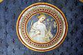 Asciano, museo di palazzo corboli, int., sala delle 4 stagioni con affreschi attr. a Cristoforo di Bindoccio e Meo di Pero, XIV sec. estate.JPG