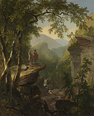 William Cullen Bryant - Asher Durand's Kindred Spirits depicts William Cullen Bryant with Thomas Cole, in this quintessentially Hudson River School work.
