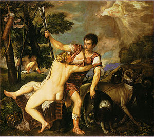 "Venus and Adonis (Titian) - ""Lausanne version"" (Ashmolean Museum, Oxford)"
