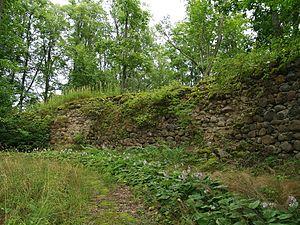 Burtnieki Castle - Image: Asti ordulinnuse müürid 01