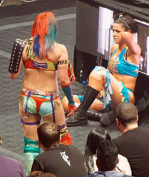 Bayley (wrestler) - Bayley staring at Asuka after losing her championship at NXT TakeOver: Dallas in April 2016
