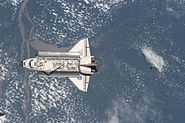 Atlantis approaching ISS STS-129