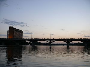 Ann W. Richards Congress Avenue Bridge - The Richards Bridge at dusk