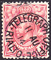 Australian 1d postage stamp cancelled Telegraph Office Rialto 1914.JPG
