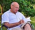 Author Eugene Dubnov (1949-2019) in Regent's Park, 15th August of 2015.jpg
