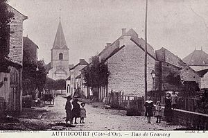 Autricourt - An old postcard of the village in 1910