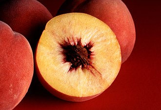 Shades of orange - The colour peach represents the flesh of the peach fruit.
