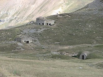 Alpine Line - Avant-poste du Col des Fourches, a typical high Alpine frontier post