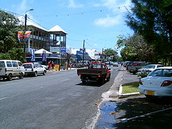 Ara Maire Nui, the main street in Avarua
