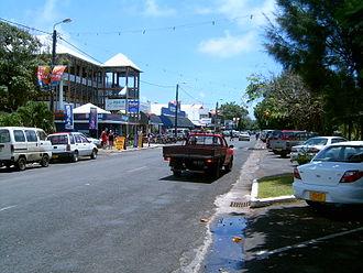 Avarua - Ara Maire Nui, the main street in Avarua