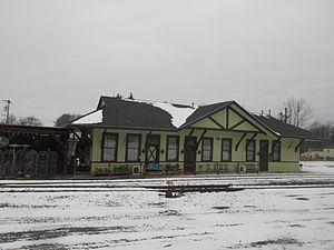 The former Erie Railroad depot in Avon, serving as Duffy's Tavern in January 2015.