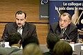 Ayman Abdel Nour et Charles Saint Prot Axis for Peace 2005-11-17.jpg