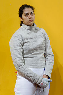 Azza Besbes Tunisian sabre fencer