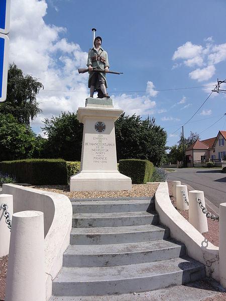 Béthancourt-en-Veaux (Aisne) monument aux morts
