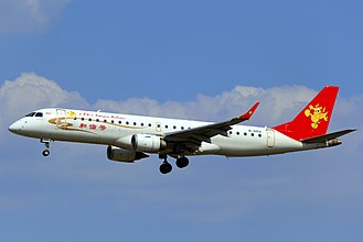 Tianjin Airlines - A Tianjin Airlines Embraer 190 at Qingdao Liuting International Airport (2013)