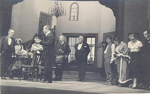 Branislav Nušić - Nušić (far left) visiting Bulgaria in 1935.
