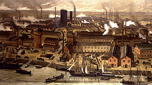 Second Industrial Revolution - The BASF-chemical factories in Ludwigshafen, Germany, 1881
