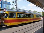 BLT Tram car 123, line 11 at Basel, Switzerland p2.jpg