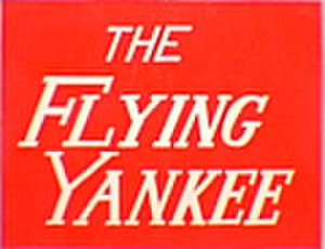 "Flying Yankee - This ""drumhead"" logo adorned the end of the observation car on the Flying Yankee."