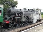 BR Standard Class 4 No 80078 Harmans Cross railway station Swanage Railway heritage railway Dorset.jpg
