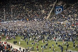 2009 BYU Cougars football team - Image: BYU vs Utah 2009, post game
