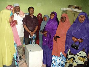 Badhan, Sanaag - Women Council members in Badhan district, Somalia