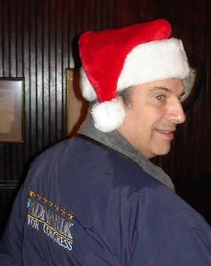 "Michael Badnarik - Badnarik, wearing a ""Badnarik for Congress"" jacket"