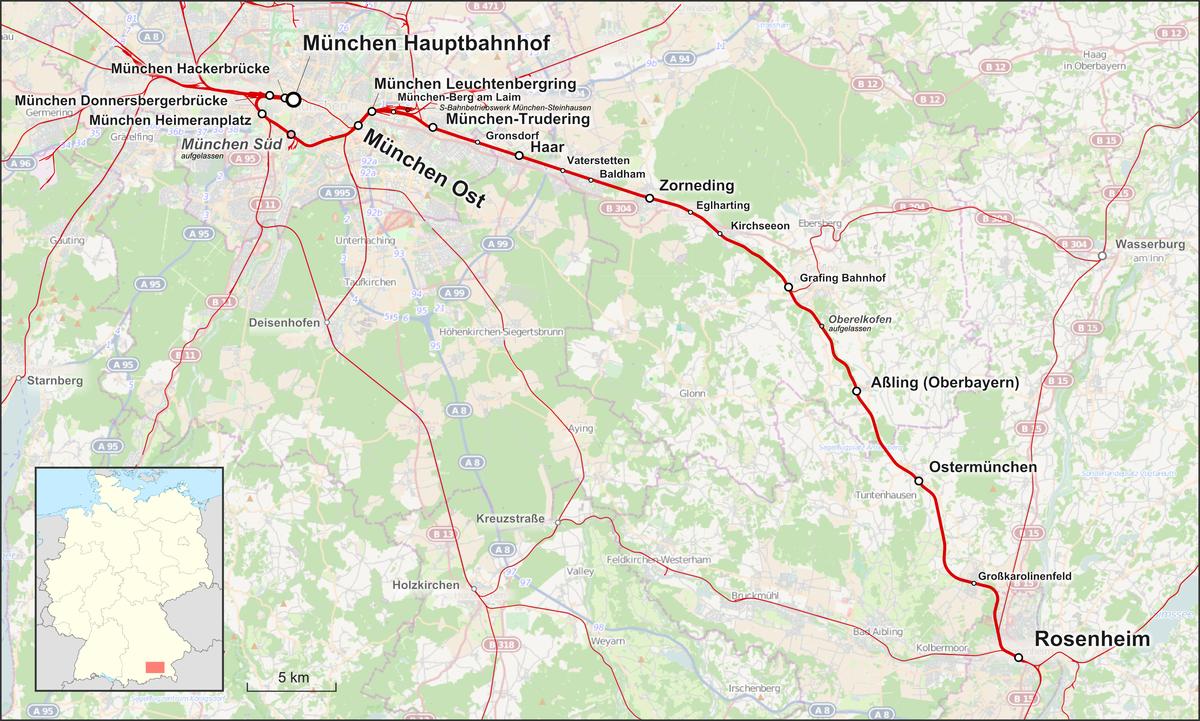 Bahnstrecke Münchenrosenheim Wikipedia