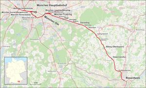 Munich–Rosenheim railway - Image: Bahnstrecke München–Rosenheim