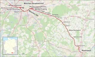 Munich–Rosenheim railway railway line