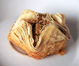 Aladdin's Eatery - Baklava, a typical Middle Eastern cake served at Aladdin's Eatery