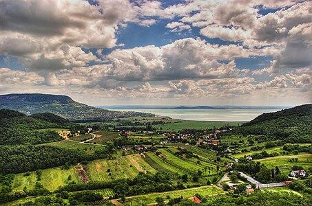 Landscape at Lake Balaton, Hungary.