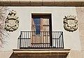 Balcó i escuts d'una de les torres dels guardes de l'Albereda, València.JPG