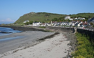 Ballygalley - Looking south at Ballygally beach and Ballygally Head.