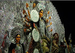 Bamangachhi - 50th year Durga Puja celebration by Agrani Sangha, Bamangachhi