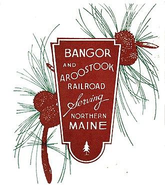 Bangor and Aroostook Railroad - Image: Bangor Aroostook Logo 1918