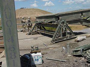Medium Girder Bridge - Image: Bank seat beam of a Medium Girder Bridge, Mosul, Iraq 2003