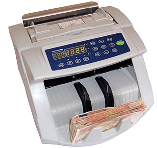 machine to count banknotes