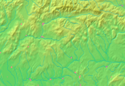 Location of Banská Bystrica in a more detailed map of the Banská Bystrica Region