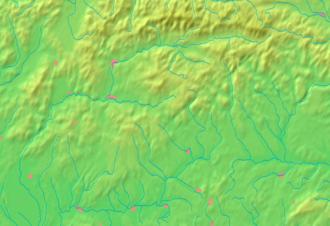 Hronský Beňadik - Image: Banská Bystrica Region background map