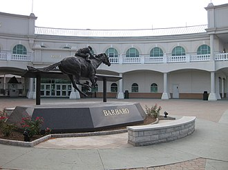 Barbaro (horse) -  Monument and statue honoring Barbaro at entrance to Churchill Downs.